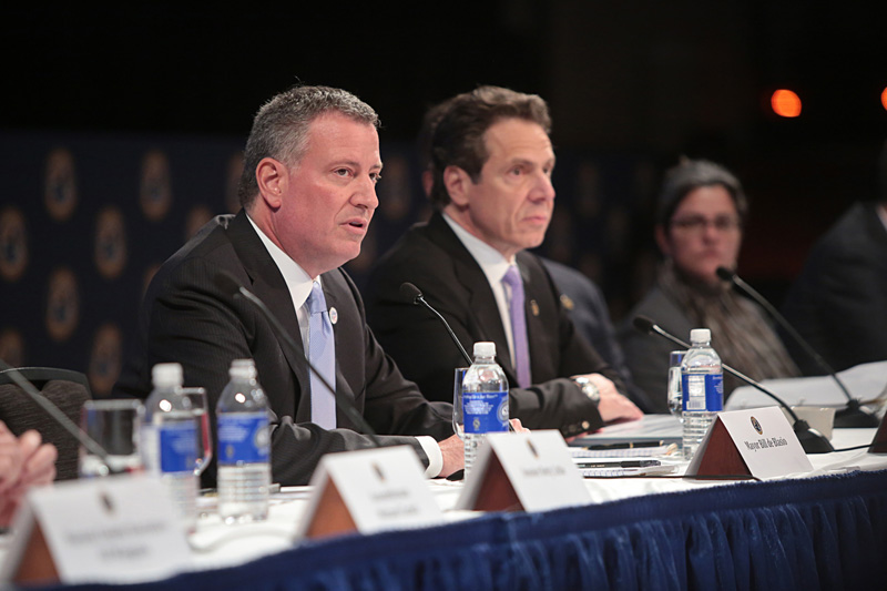 Mayor de Blasio announces Sandy property tax relief legislation