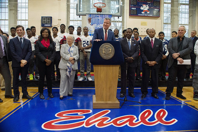 City Announces $1.2 Million Donation from NY Giants Chairman Steve Tisch to Protect Student-Athletes