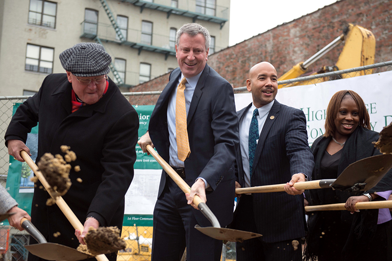 Mayor de Blasio Breaks Ground on New Affordable Housing for
