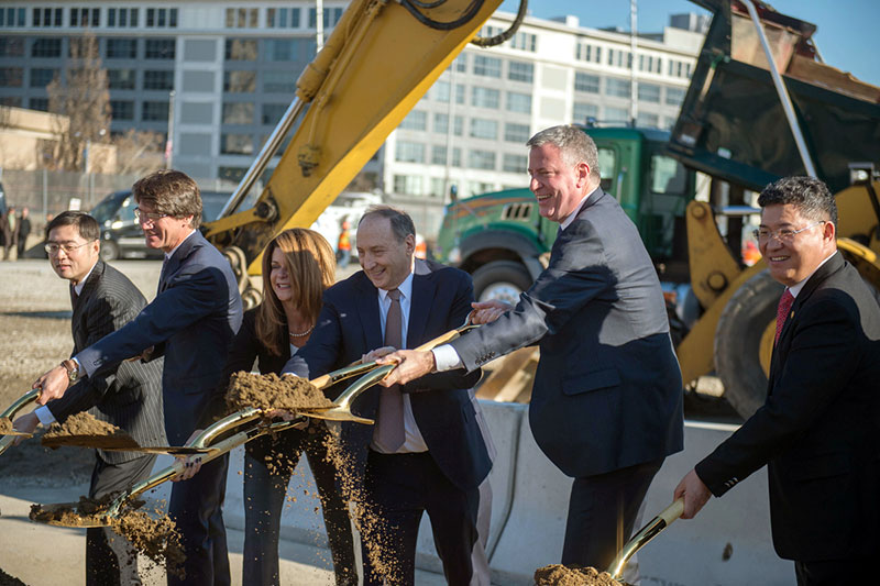 Mayor de Blasio Joins Brooklynites to Break Ground on Affordable Building at Pacific Park