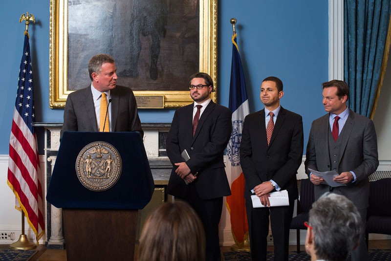 Mayor de Blasio appoints advisors and leadership