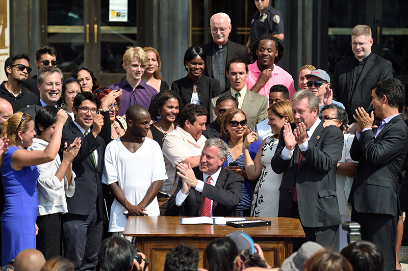 Transcript: Mayor de Blasio Signs Legislation to Create Municipal ID Card