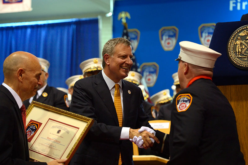 Mayor de Blasio and Fire Commissioner Cassano Honor Members of FDNY at 145th Medal Day Ceremony