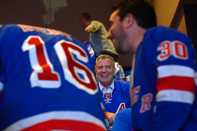 Mayor Bill de Blasio Announces Bet with Los Angeles Mayor Eric Garcetti on Rangers-Kings Stanley Cup
