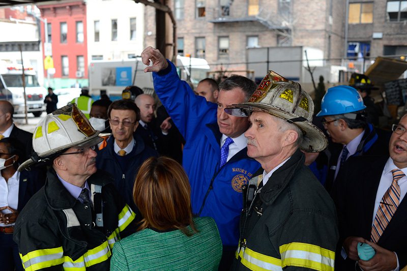 Mayor de Blasio Updates New Yorkers on the Situation in East Harlem