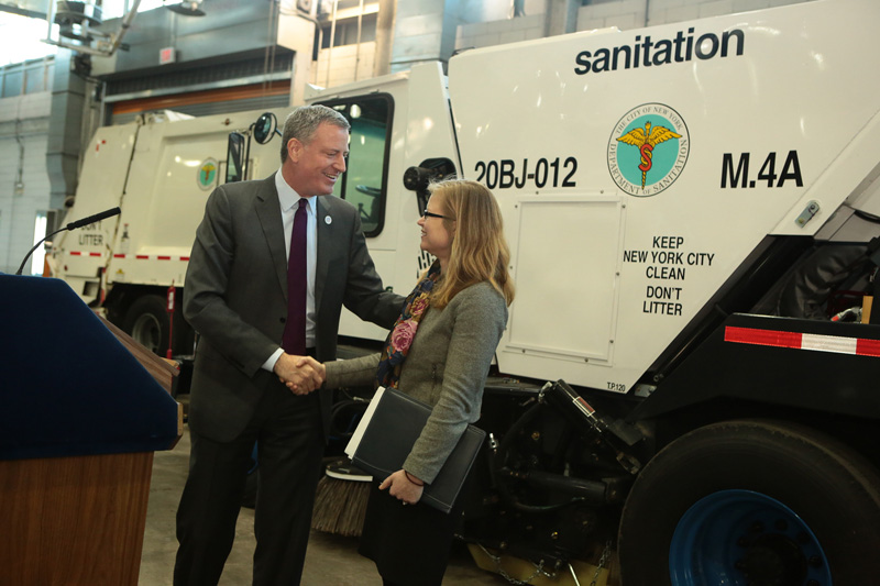 Mayor de Blasio Appoints Kathryn Garcia as Department of Sanitation Commissioner