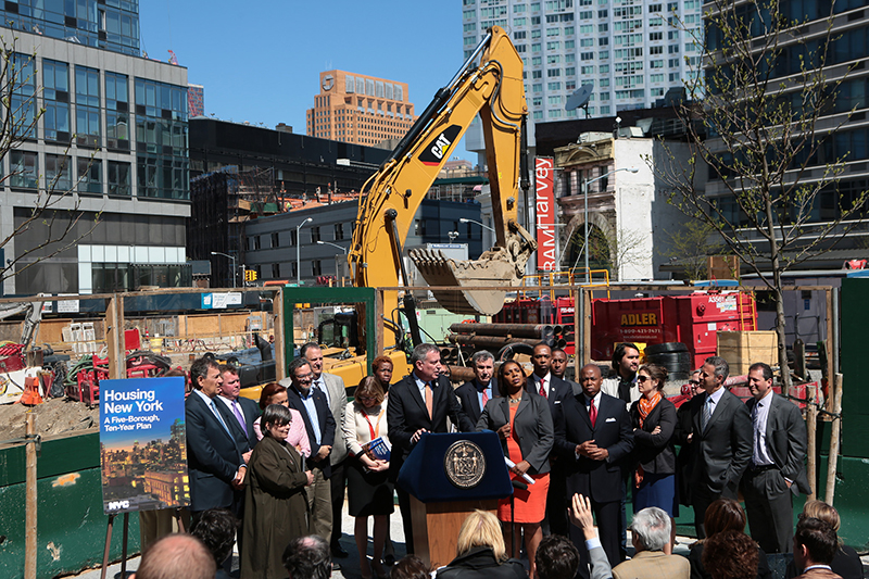 Elected  Officials, Housing Providers, Advocates, Developers and Labor Applaud 'Housing  New York'