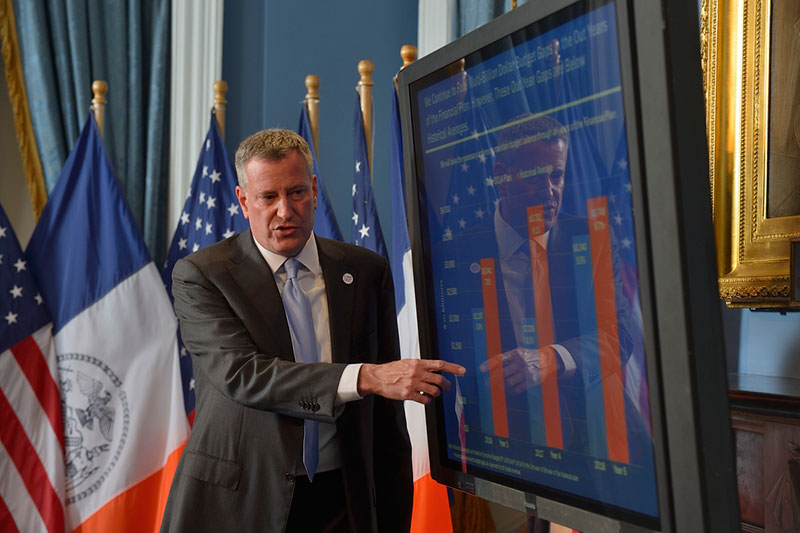 Mayor de Blasio Issues Executive Budget for FY2015, Updates the City's Financial Plan for 2014-18