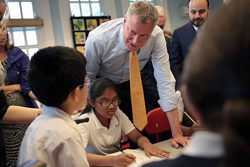 Mayor de Blasio Outlines Major School Reforms in Executive Budget and Teachers' Contract