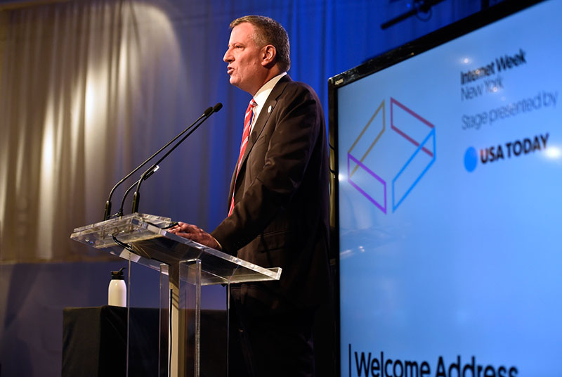 NYC Mayor Bill de Blasio's keynote address at Internet Week New York