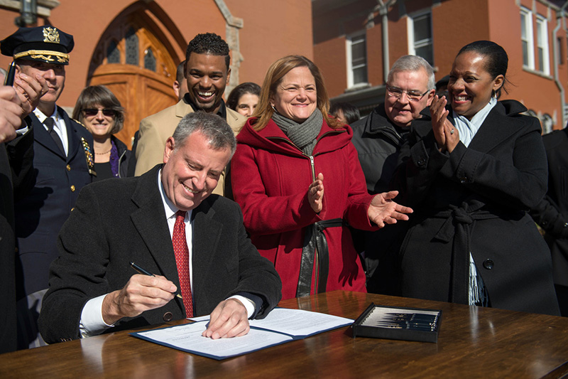 Mayor Bill de Blasio Signs into Law Bills
