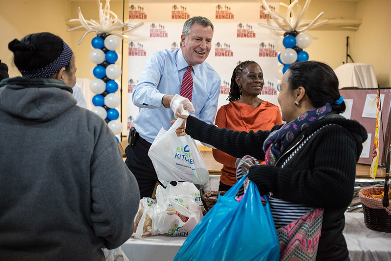 Transcript Mayor De Blasio Holds Media Availability After Greeting Volunteers And Distributing
