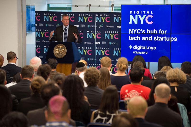 Mayor de Blasio unveils Digital.NYC