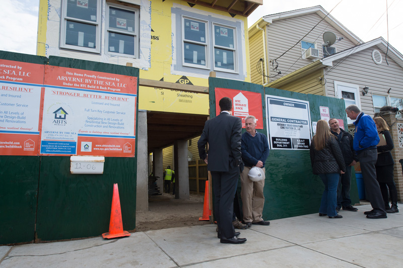 Mayor de Blasio Announces Signficant Progress on Sandy Recovery, New Build It Back Goals