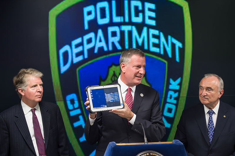 Mayor de Blasio Announces Major Initiative to Enhance NYPD Mobile Communications