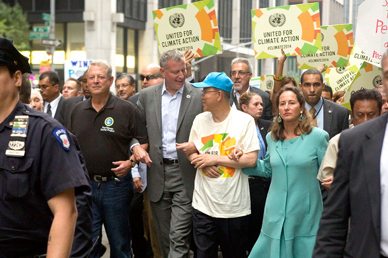 Mayor de Blasio Commits to 80 Percent Reduction of Greenhouse Gas Emissions by 2050