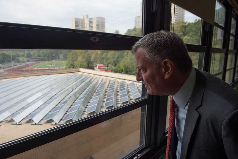 Mayor de Blasio Announces Major Solar Investment at City Schools