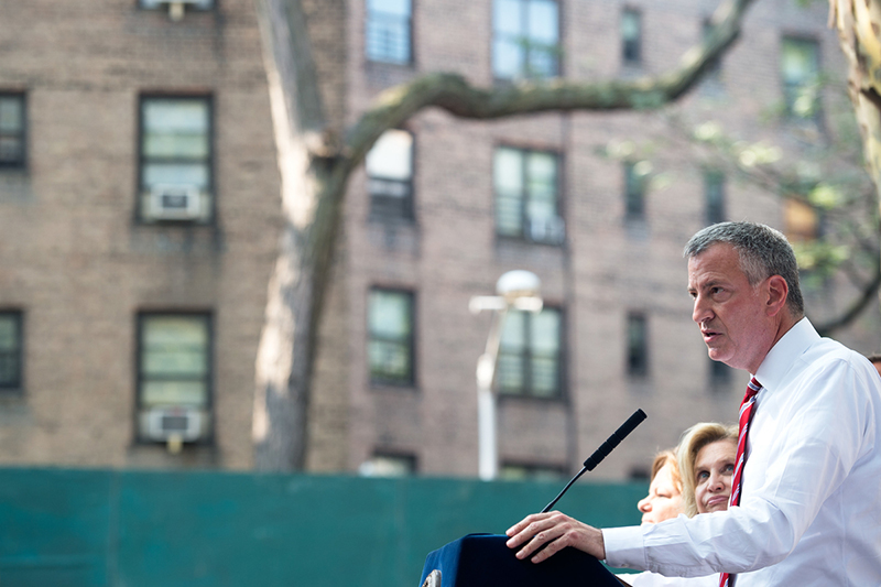 De Blasio Administration Announces Start of $87 Million Queensbridge Houses Roof Replacement