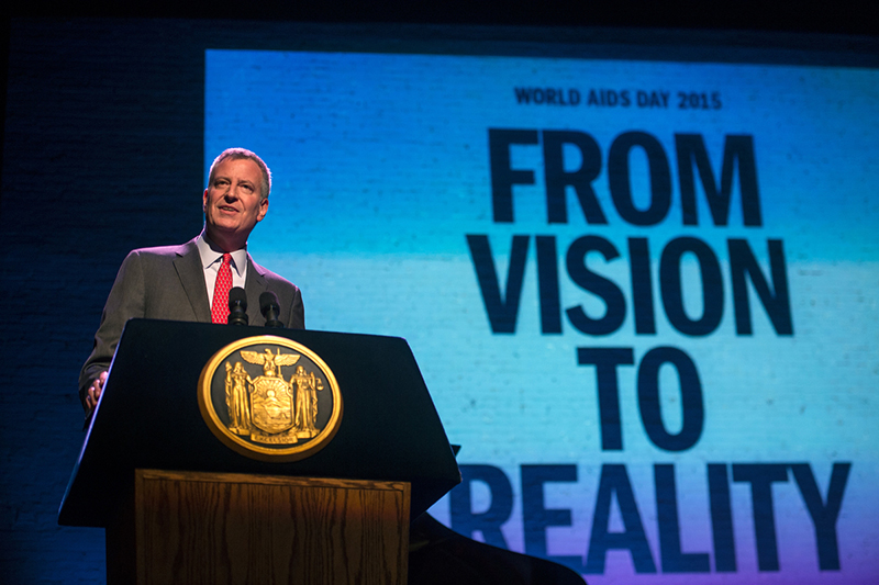 On World Aids Day, Mayor de Blasio Announces NYC Commitment to End the Epidemic