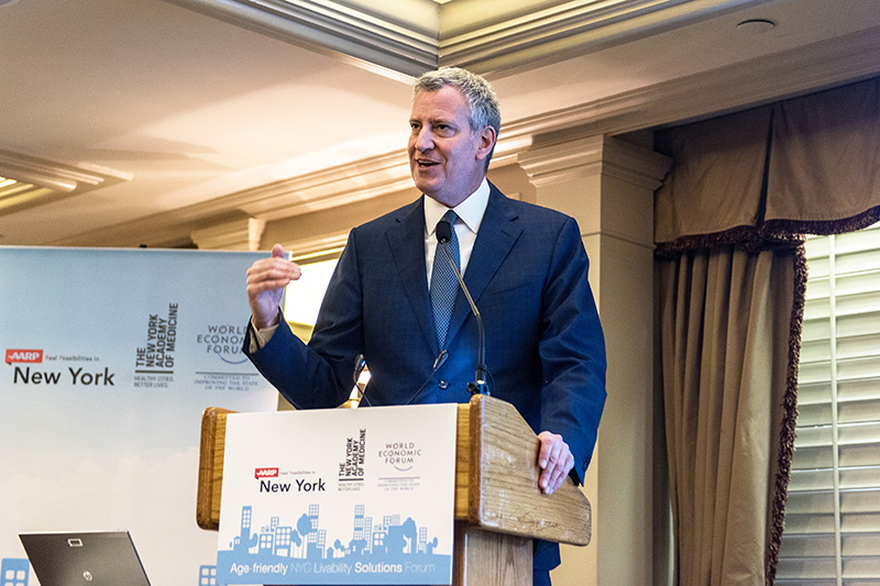 Mayor de Blasio Delivers Remarks at AARP Age-Friendly NYC Livability Solutions Forum
