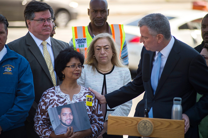 Mayor de Blasio Announces Department of Transportation Commencing Work on $100 Million Vision Zero O