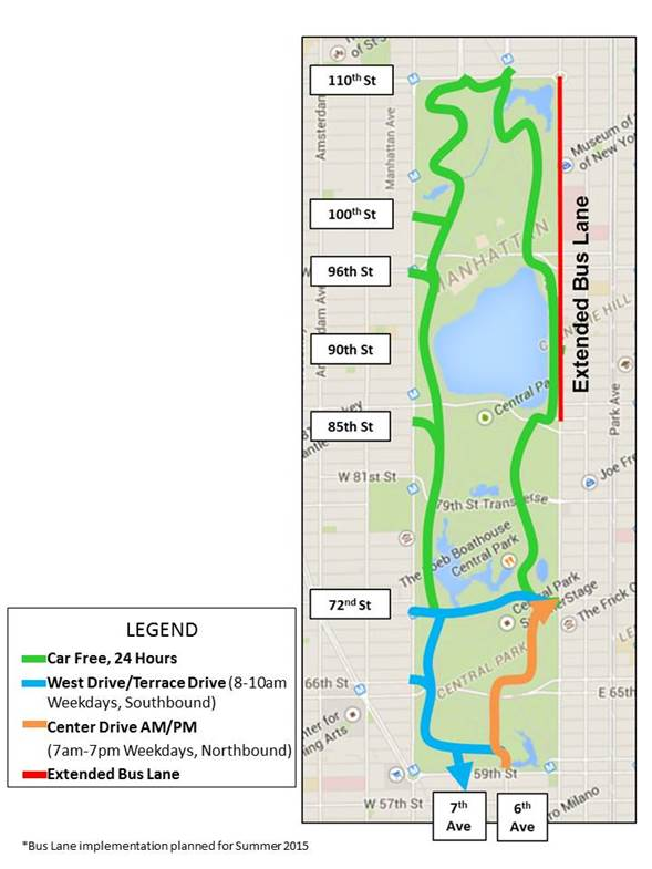 Mayor De Blasio Announces Major Sections Of Central Park And - Map run distance free