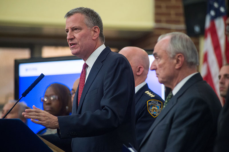 Mayor de Blasio, Commissioner Bratton Unveil New, Groundbreaking Neighborhood Policing Vision