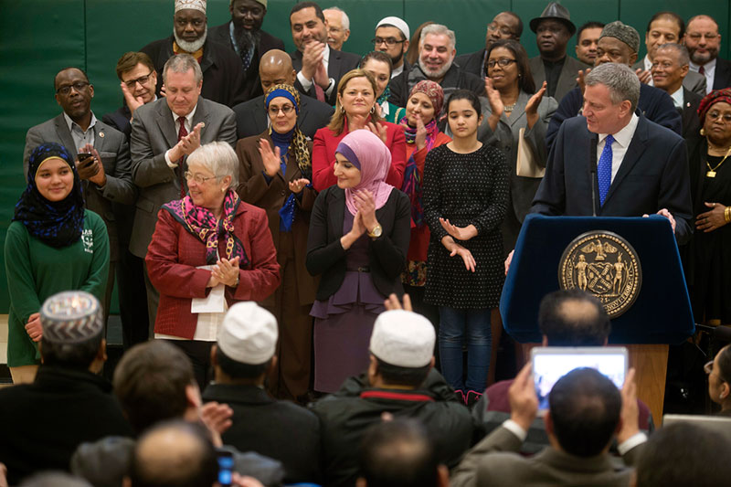 Transcript: Mayor de Blasio Designate Eid Al-Fitr and Eid Al-Adha Official School Holidays
