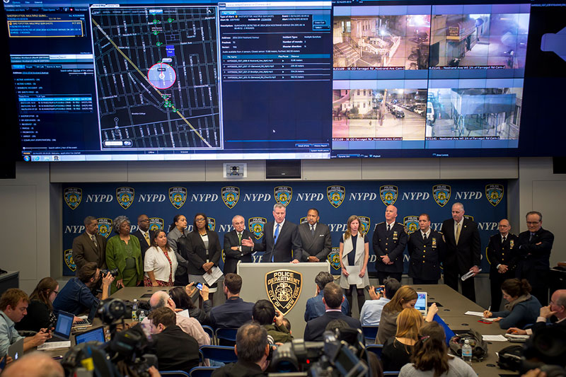 Mayor de Blasio and Police Commissioner Bratton Launch New Gun Detection Technology