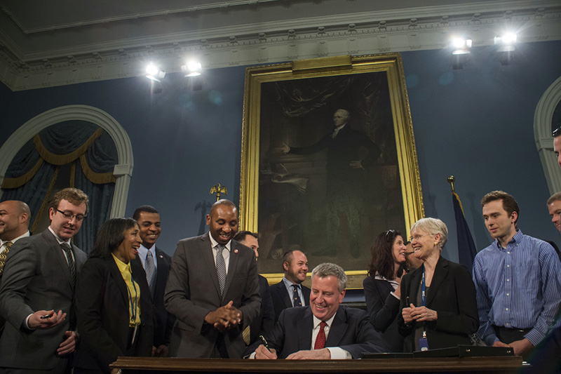 Mayor de Blasio Signs Legislation to Prohibit Employers from Using Credit Checks to Screen Applicant