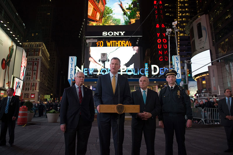 Transcript: Mayor de Blasio Provide Update on Counterterrorism Measures in Times Square