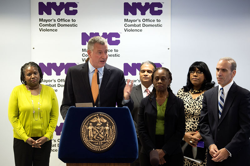Mayor de Blasio Announces Groundbreaking of Fifth NYC Family Justice Center on Staten Island