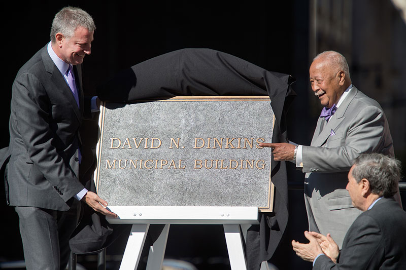 manhattan municipal building renamed for former mayor david n dinkins city of new york https www1 nyc gov office of the mayor news 722 15 manhattan municipal building renamed former mayor david n dinkins