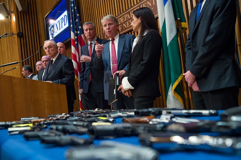 DA Vance, Mayor de Blasio, Commissioner Bratton Announce Indictment of Gun Traffickers