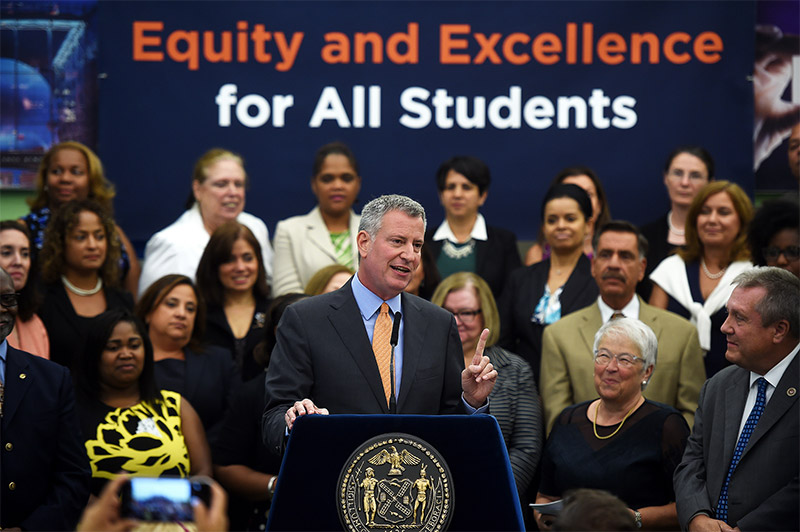 The improvement for the disabled students by mayor de blasio
