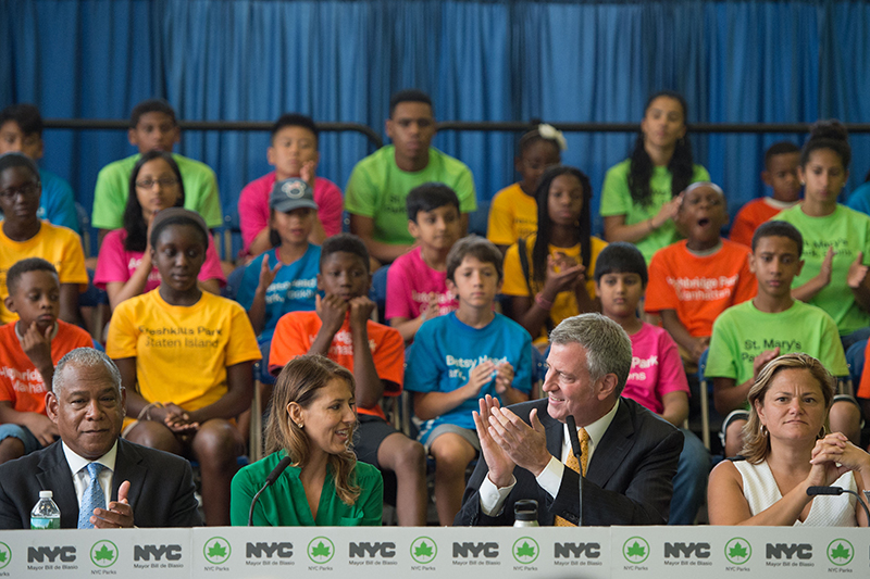 Mayor de Blasio Announces $150 Million in Funding for Five Anchor Parks
