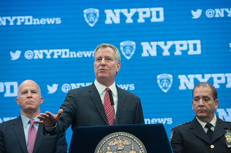Mayor de Blasio, Police Commissioner O'Neill Discuss Safety and Security Preparedness for New Year's