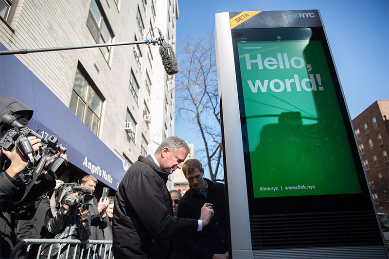 Mayor de Blasio Announces Public Launch of LinkNYC Program