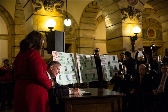 Mayor de Blasio Signs Legislation to Co-Name 42 Thoroughfares and Public Spaces