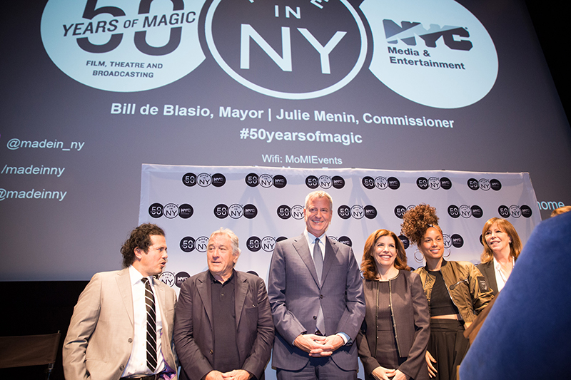 Mayor de Blasio Celebrates 50th Anniversary of City's Office of Film, Theatre and Broadcasting with