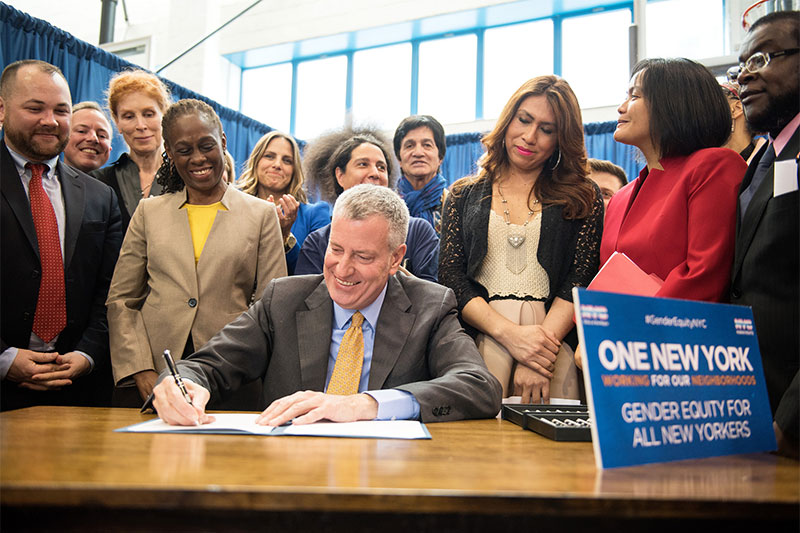 Mayor de Blasio Mandates City Facilities Provide Bathroom Access