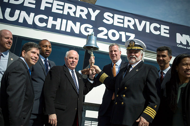 Mayor De Blasio: Citywide Ferry Service on Track to Launch in 2017, with Hornblower as New Operator