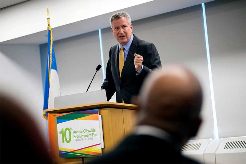 Mayor de Blasio, Department of Small Business Services Host 10th Annual Procurement Fair