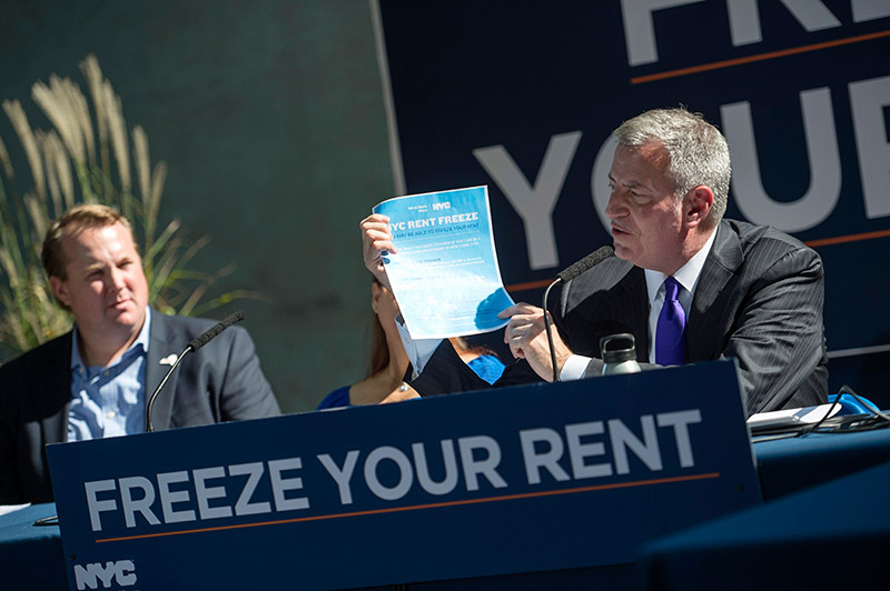 Mayor de Blasio Announces More Help for Tenants