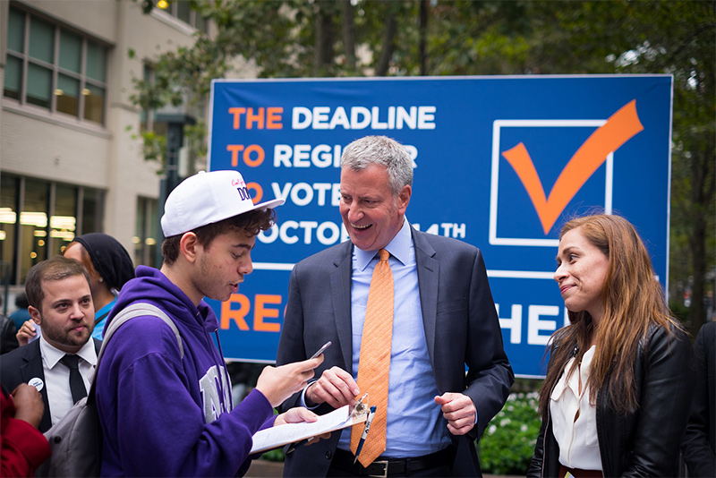 Fact Sheet: Mayor de Blasio Calls on Albany to Make Elections Fairer and More Open for All