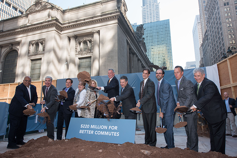 Mayor de Blasio, Sl Green, Local Officials Break Ground On New Office Tower