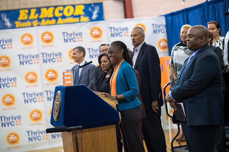 First Lady Chirlane McCray Launches NYC Well