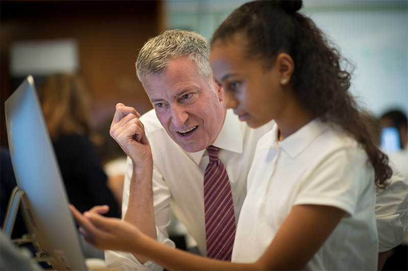 $20 Million In Private Donations Raised For Mayor de Blasio's Computer Science For All Initiative