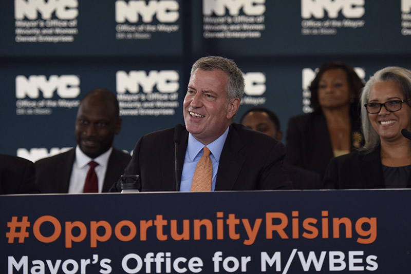Mayor de Blasio Announces Bold New Vision for the City's M/WBE Program
