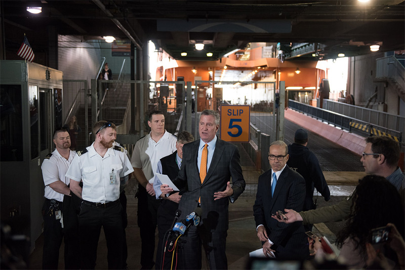 Mayor de Blasio Announces Expanded Passenger Boarding for the Staten Island Ferry